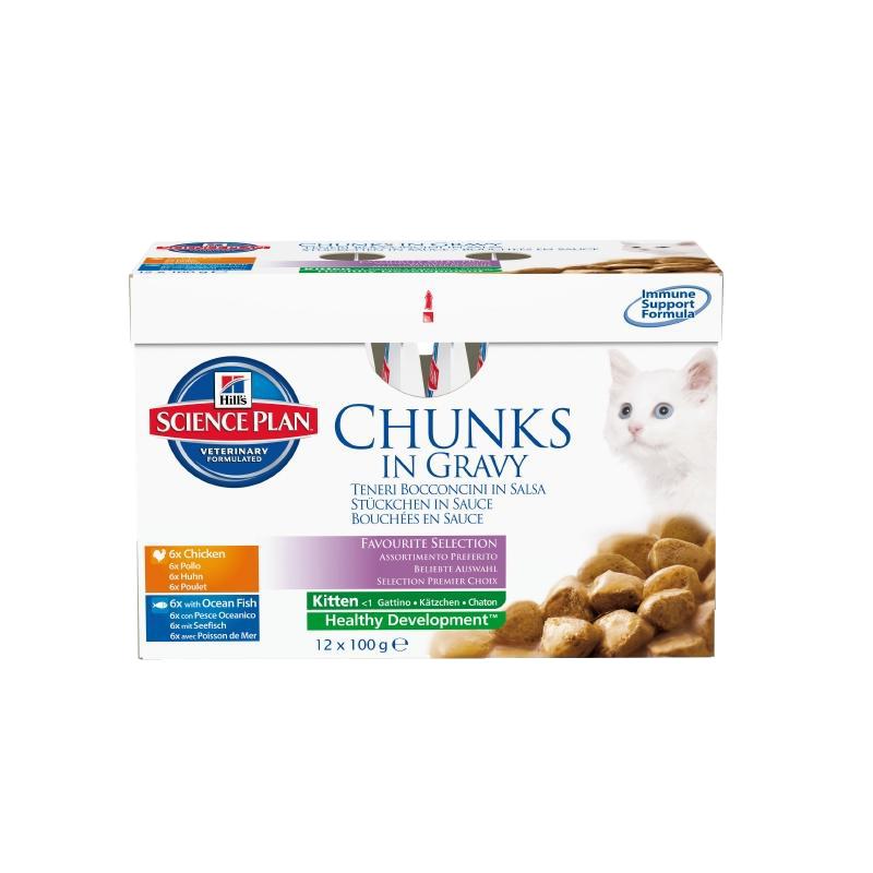 Hill's | Science Plan Kitten Multipack Huhn & Seefisch