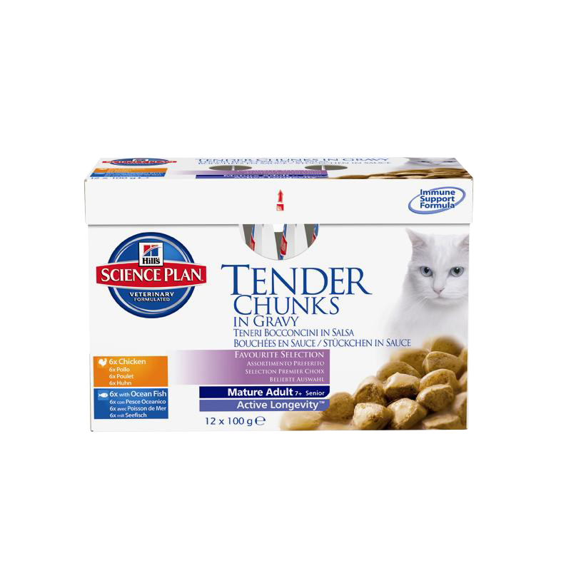 Hill's | Science Plan Feline Mature Adult Multipack Huhn & Seefisch