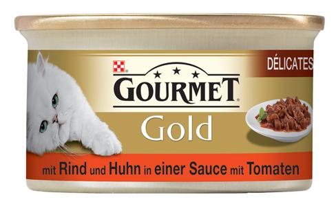 Gourmet | Gold Délicatesse mit Rind und Huhn in einer Sauce mit Tomaten