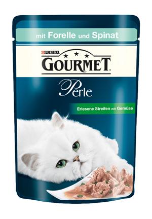 Gourmet | Perle Erlesene Streifen mit Gemüse mit Forelle und Spinat