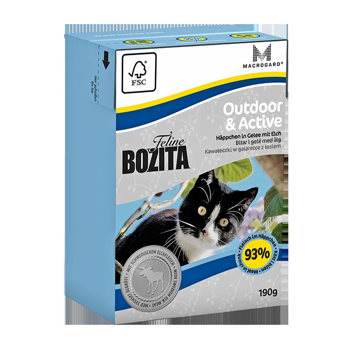 Bozita | Feline Outdoor & Active - Häppchen in Gelee mit Elch