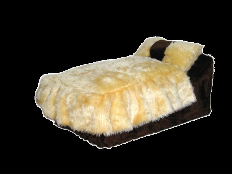 SILVIO DESIGN | Kuschelbett braun-beige