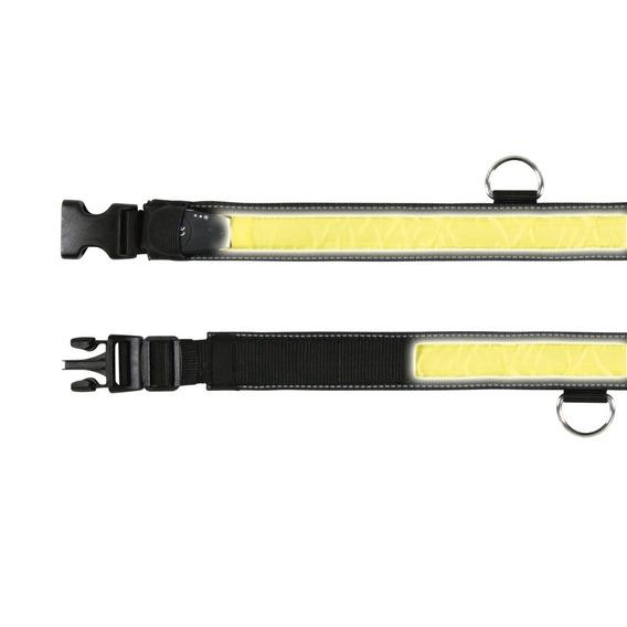 Trixie | Safer Life Flash Halsband in Schwarz/Gelb