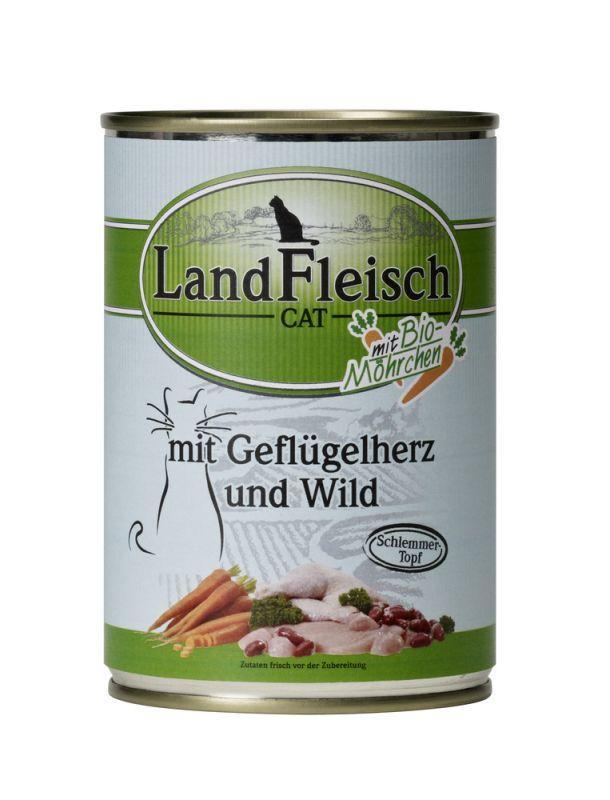 LandFleisch | Schlemmertopf Geflügelherzen und Wild