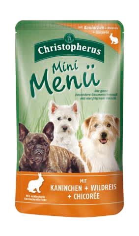Allco | Christopherus Mini Menü mit Kaninchen + Wildreis + Chicorée