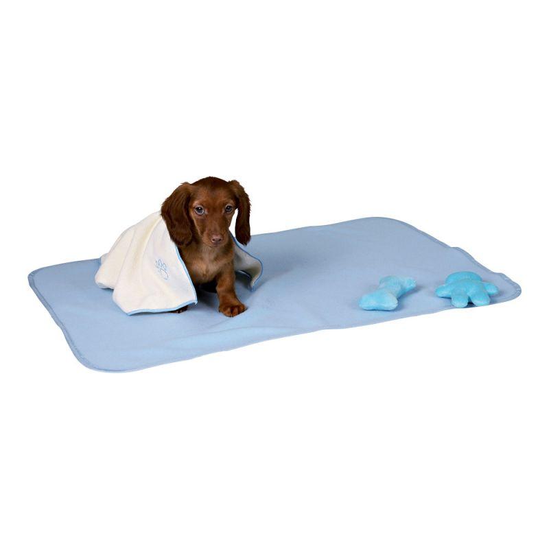 Trixie | Welpen-Set mit Decke, Spielzeug und Handtuch, hellblau