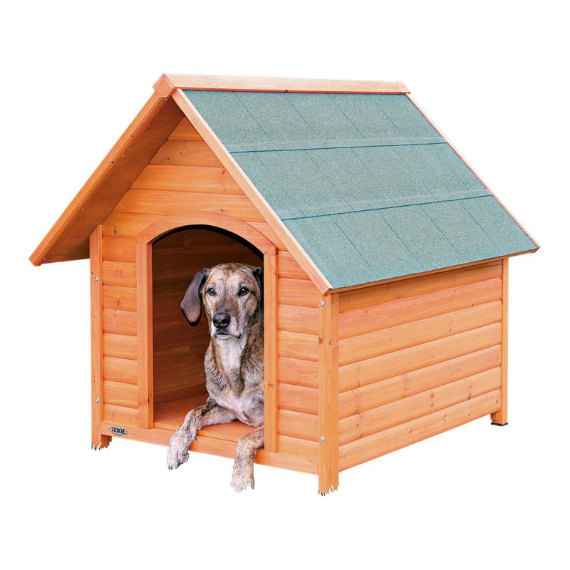 Trixie | natura Hundehütte Cottage mit Satteldach natur