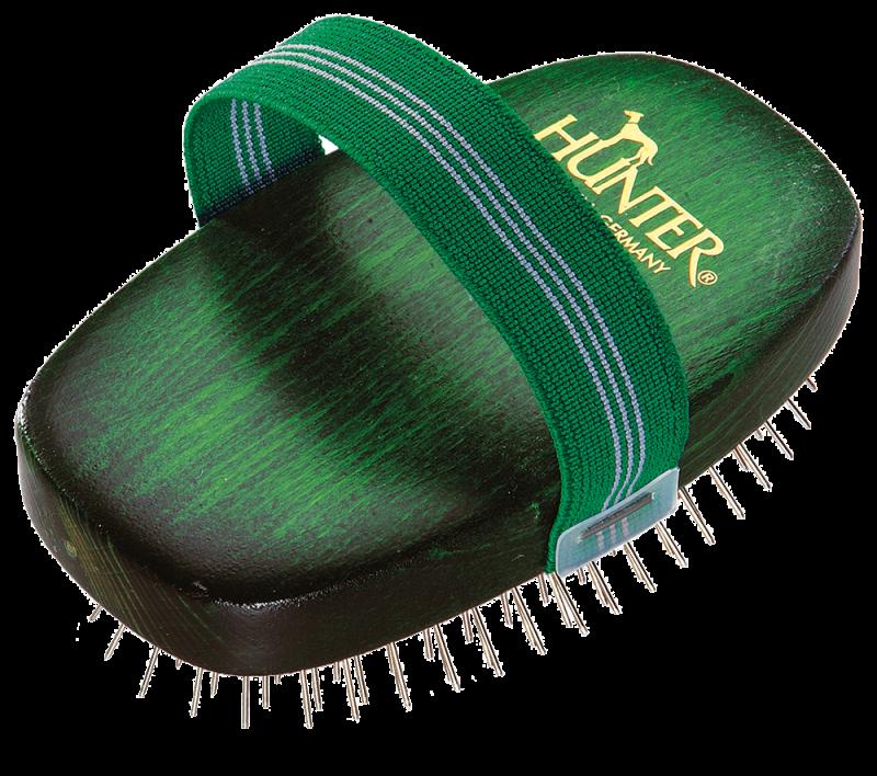 Hunter | Hundeschweifbürste oval Buche grün