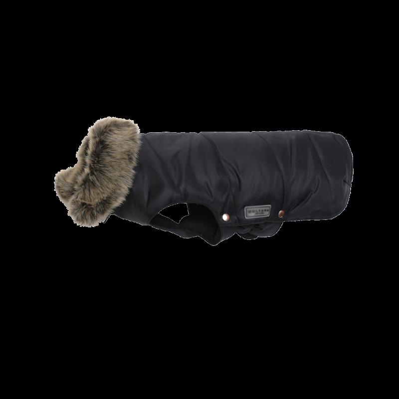 Wolters | Parka mit Fellkragen für Mops & Co in Schwarz