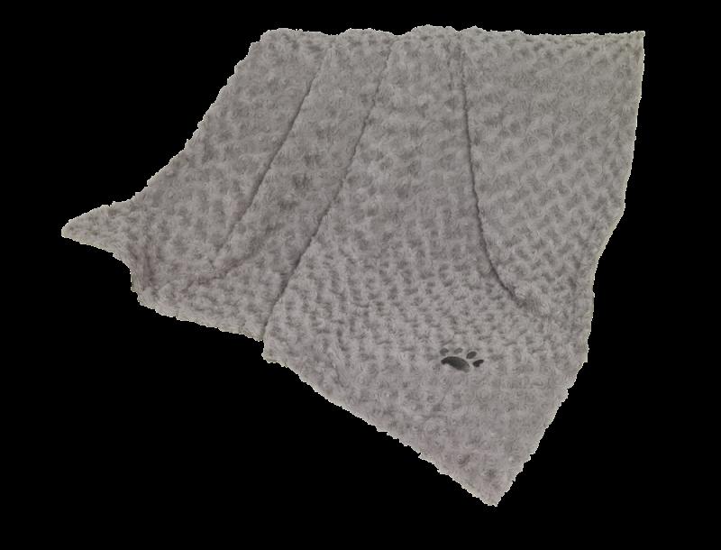 Nobby | Fleece Plaid SUPER SOFT hellgrau
