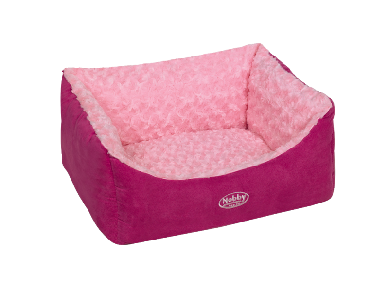 Nobby | Komfort Bett eckig ARUSHA pink