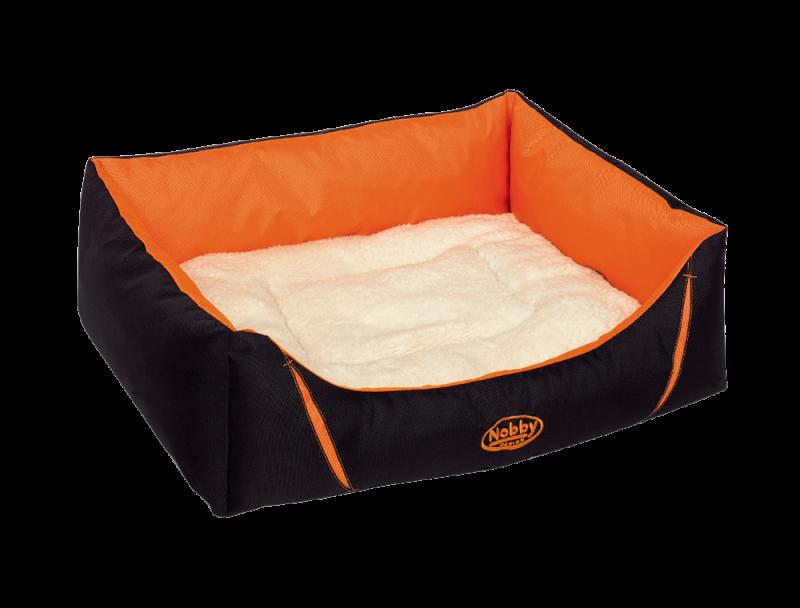 Nobby | Komfort Bett eckig DAVIA orange