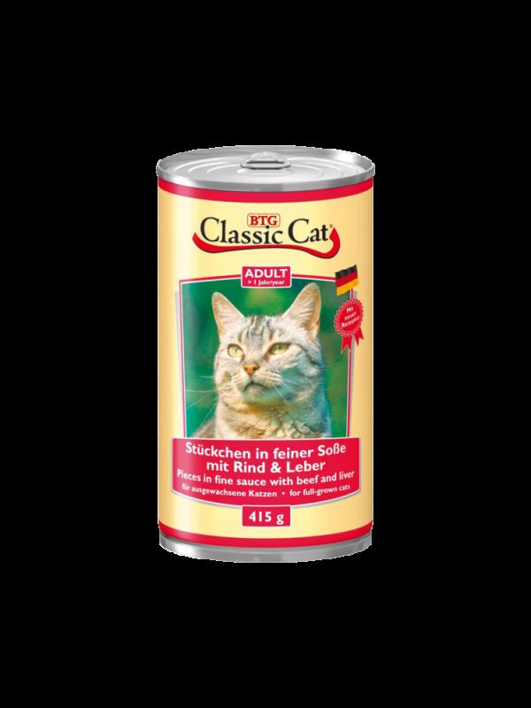 Classic Cat | Stückchen in feiner Soße mit Rind & Leber