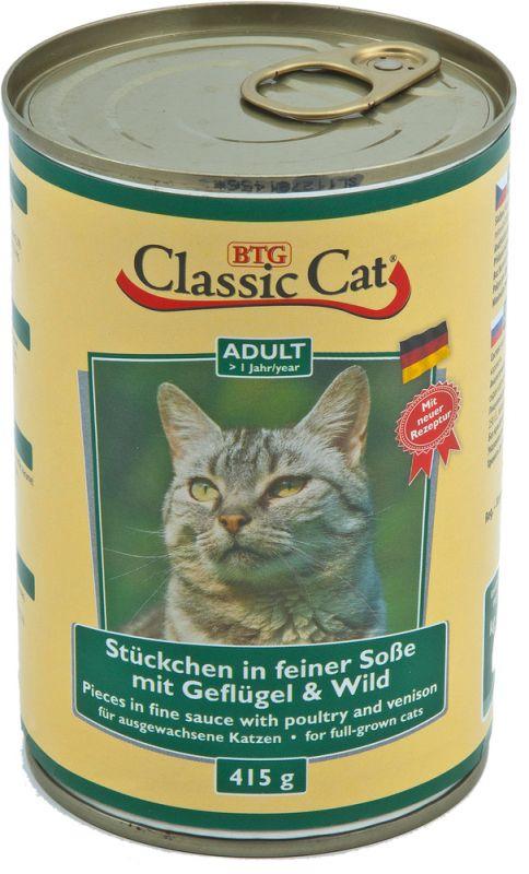 Classic Cat | Stückchen in feiner Soße mit Geflügel & Wild