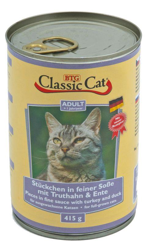 Classic Cat | Stückchen in feiner Soße mit Truthahn & Ente