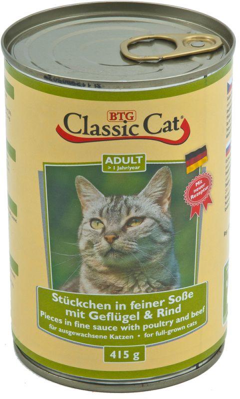 Classic Cat | Stückchen in feiner Soße mit Geflügel & Rind