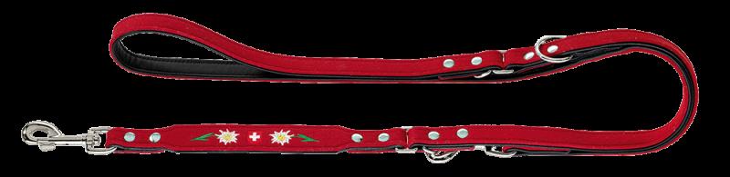 Hunter | Verstellbare Führleine Trachtenland in Rot