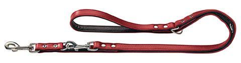Hunter | Verstellbare Führleine Basic in Rot/Schwarz