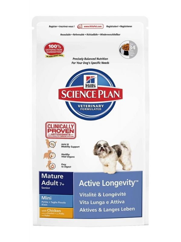Hill's | Science Plan Canine Mature Adult 7+ Mini - Active Longevity mit Huhn