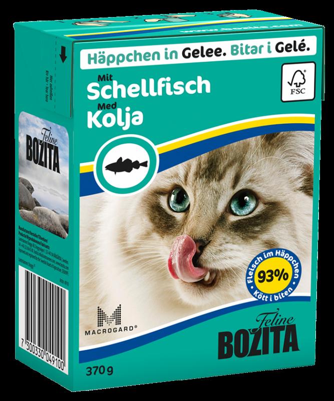 Bozita | Feline Häppchen in Gelee mit Schellfisch