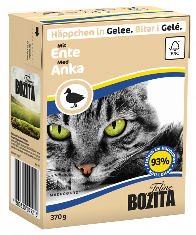 Bozita | Feline Häppchen in Gelee mit Ente