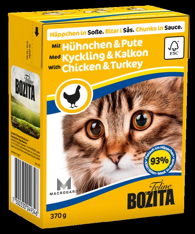 Bozita | Feline Häppchen in Soße mit Hühnchen & Pute