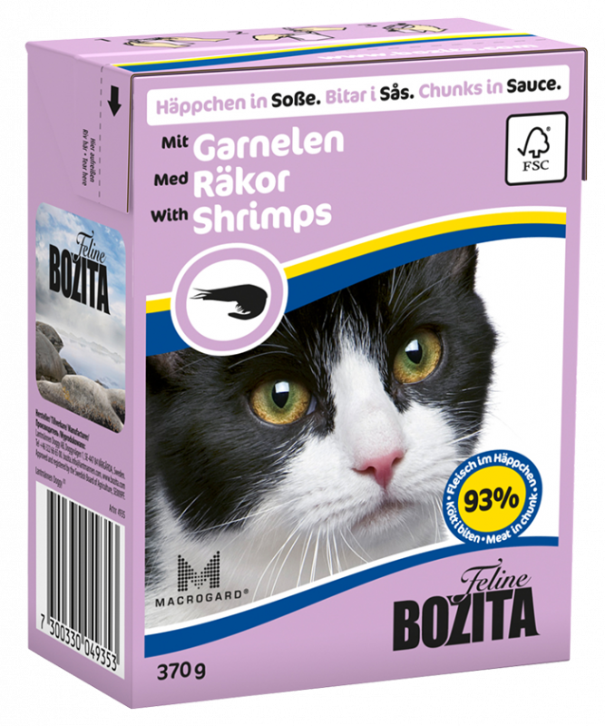 Bozita | Feline Häppchen in Soße mit Garnelen