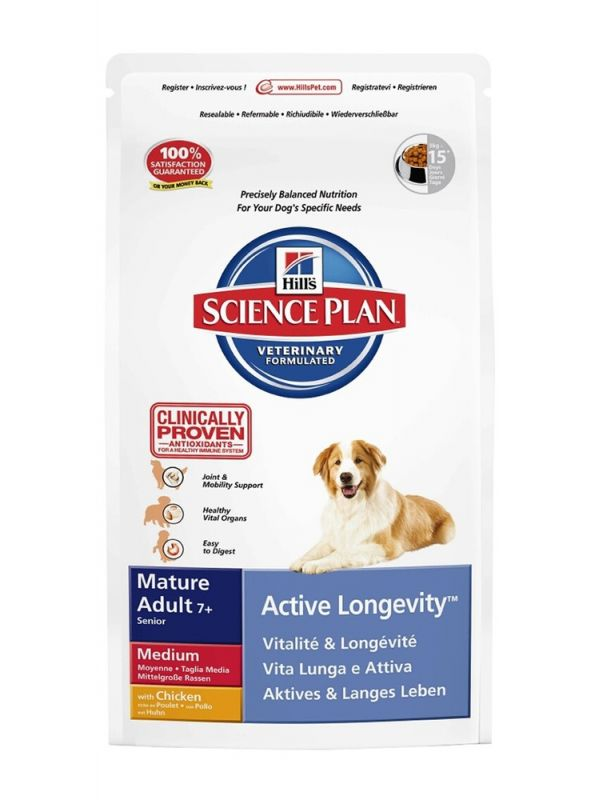Hill's | Science Plan Mature Adult 7+ Medium Active Longevity mit Huhn