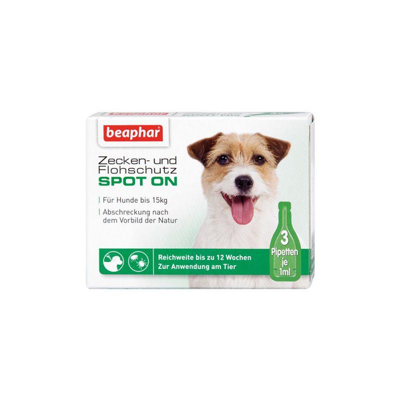 Beaphar | Zecken- und Flohschutz SPOT-ON 3x1ml, für kleine Hunde (bis 15kg)