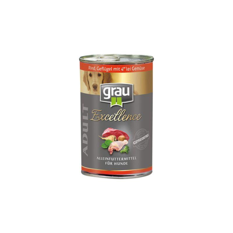 grau | Excellence Adult Rind, Geflügel & Gemüse