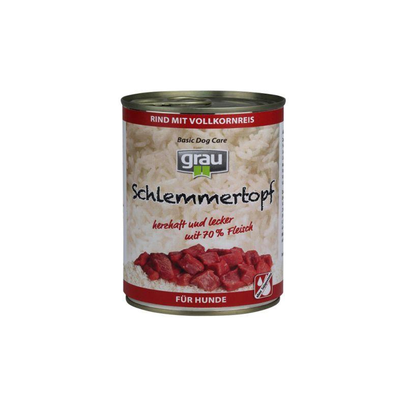 grau | Schlemmertopf Rind mit Vollkornreis