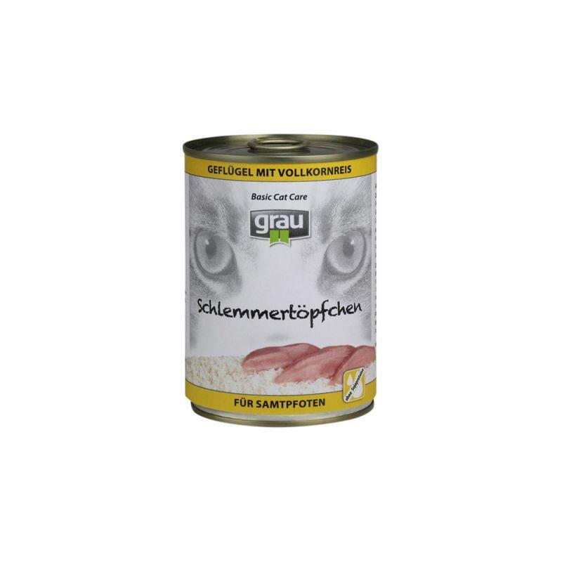 grau | Schlemmertöpfchen Geflügel mit Vollkornreis