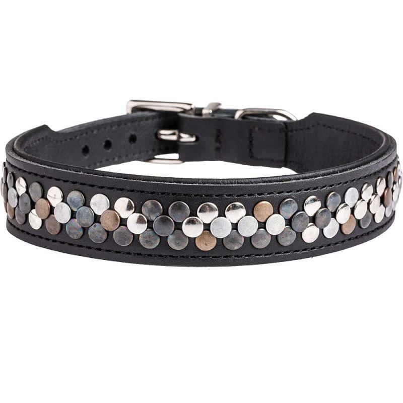 Hunter | Halsband Arizona, Softleder schwarz/Nappa schwarz
