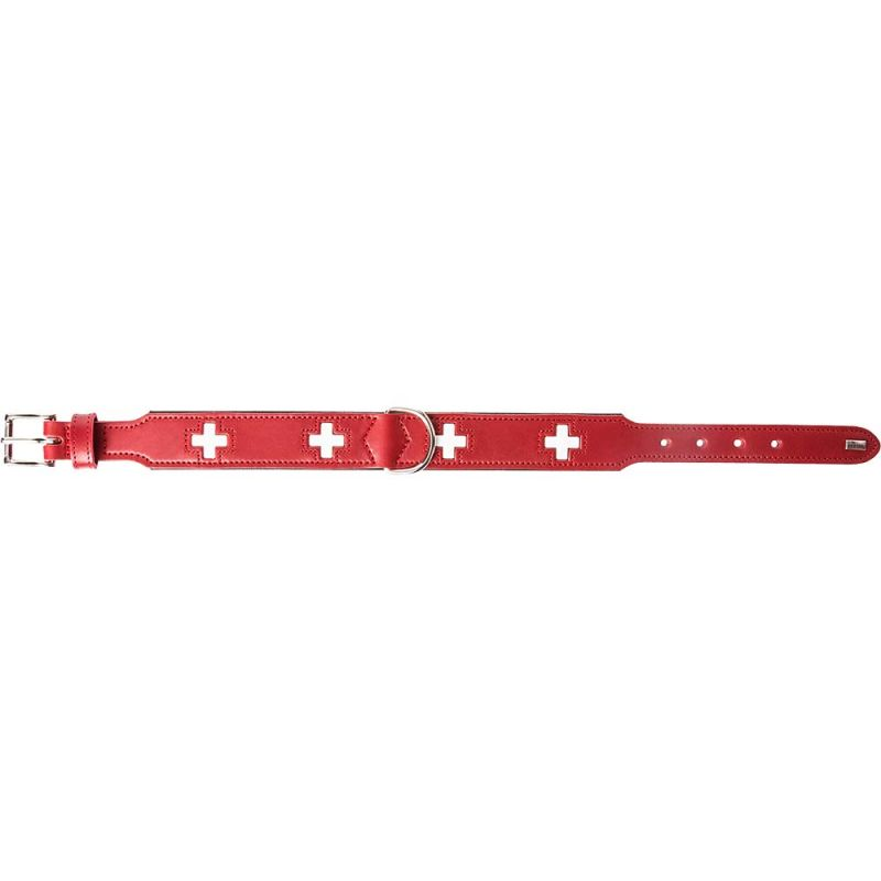 Hunter | Halsband Swiss Leder in Rot