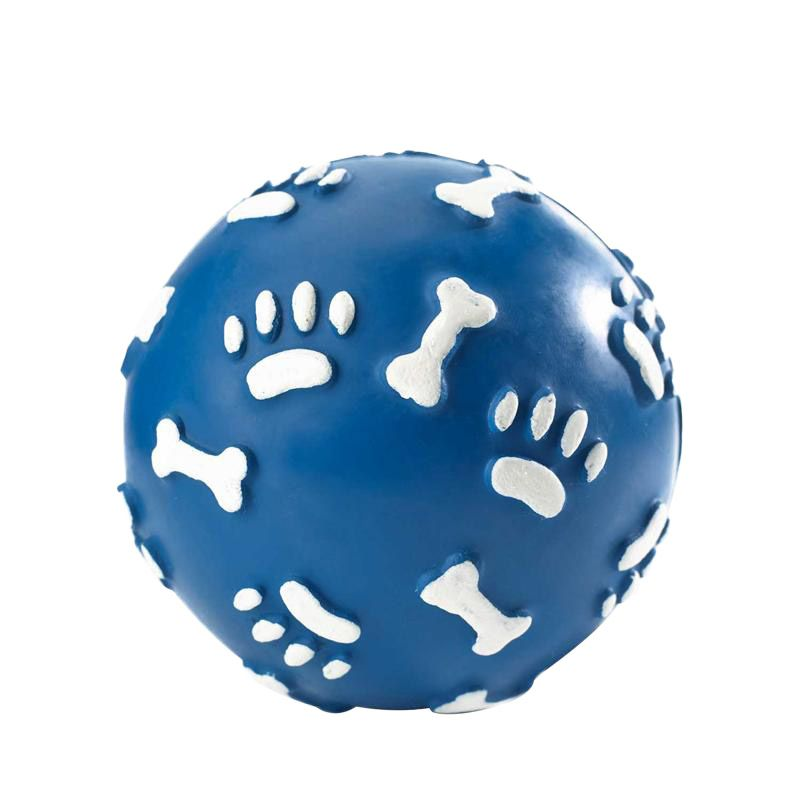 Hunter | Vollgummiball Pfote blau