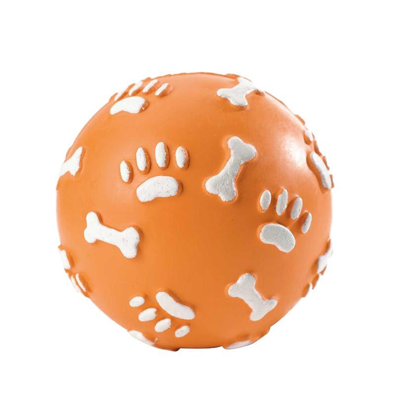 Hunter | Vollgummiball Pfote - orange