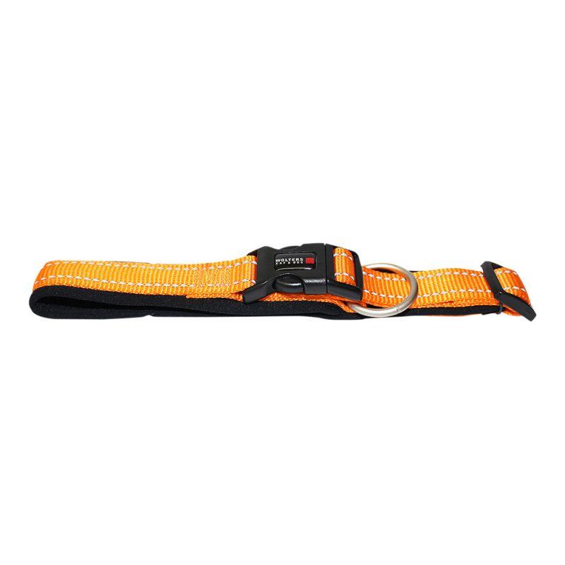 Wolters | Halsband Soft & Safe reflektierend orange/schwarz