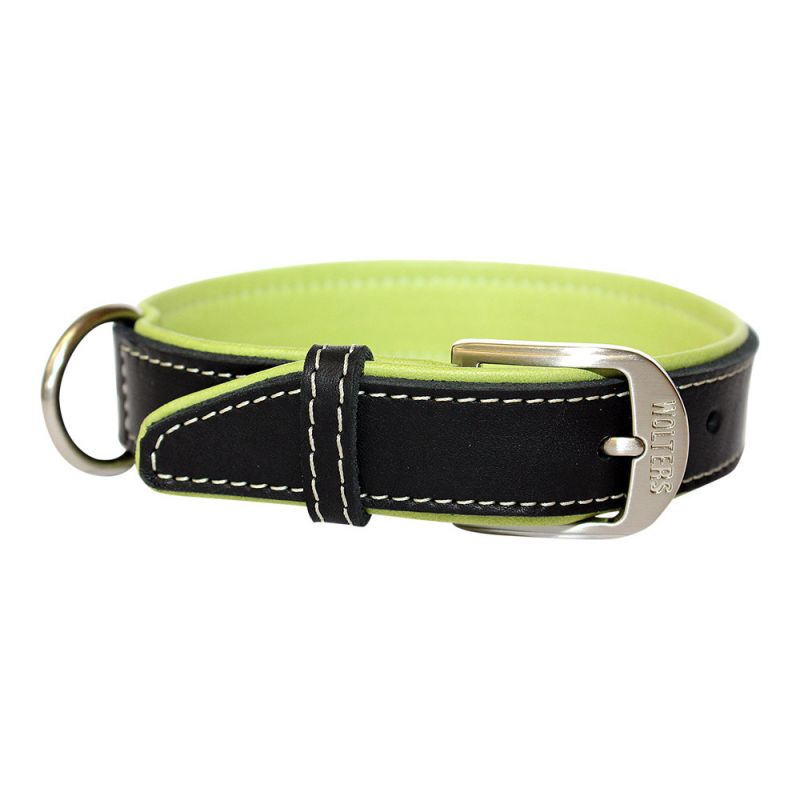 Wolters | Halsband Terranova Fettleder schwarz/apfel