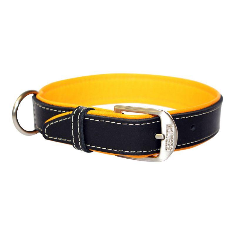 Wolters | Halsband Terranova Fettleder schwarz/mango