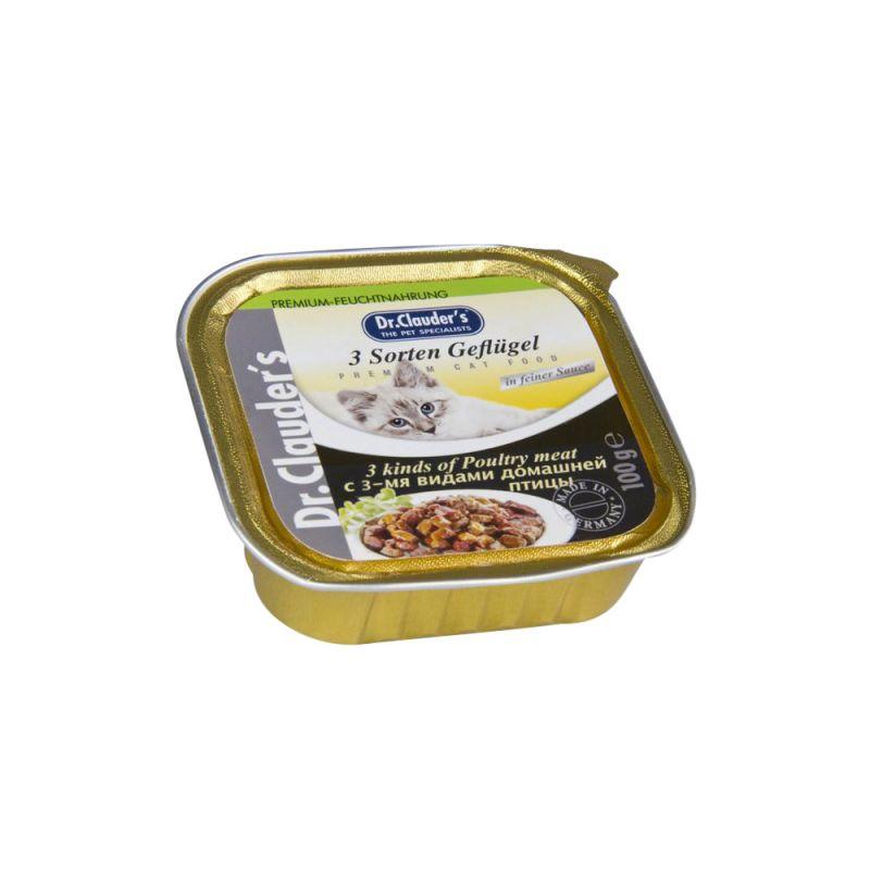 Dr. Clauder's | Cat Schale 3 Sorten Geflügel