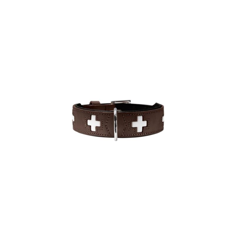 Hunter | Halsband Swiss braun/schwarz