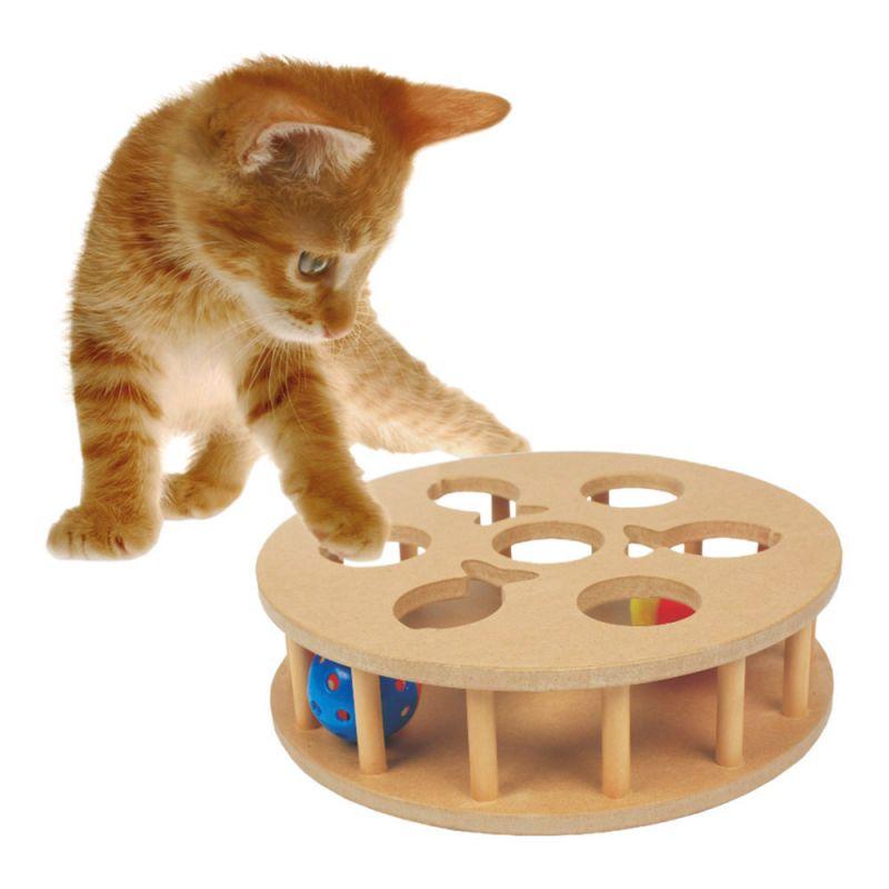 Heim | Cat-IQ-Trainingsspiel rund mit Jingle Bällen