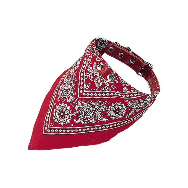 Nobby | Halsband mit Tuch rot gemustert
