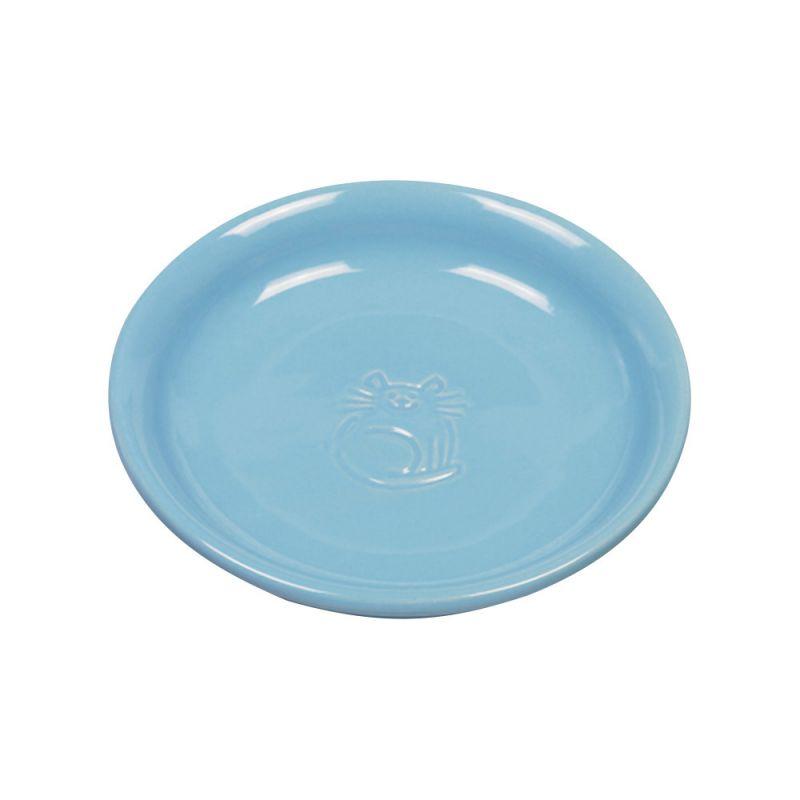 Nobby | Katzen Keramik Milchschale hellblau