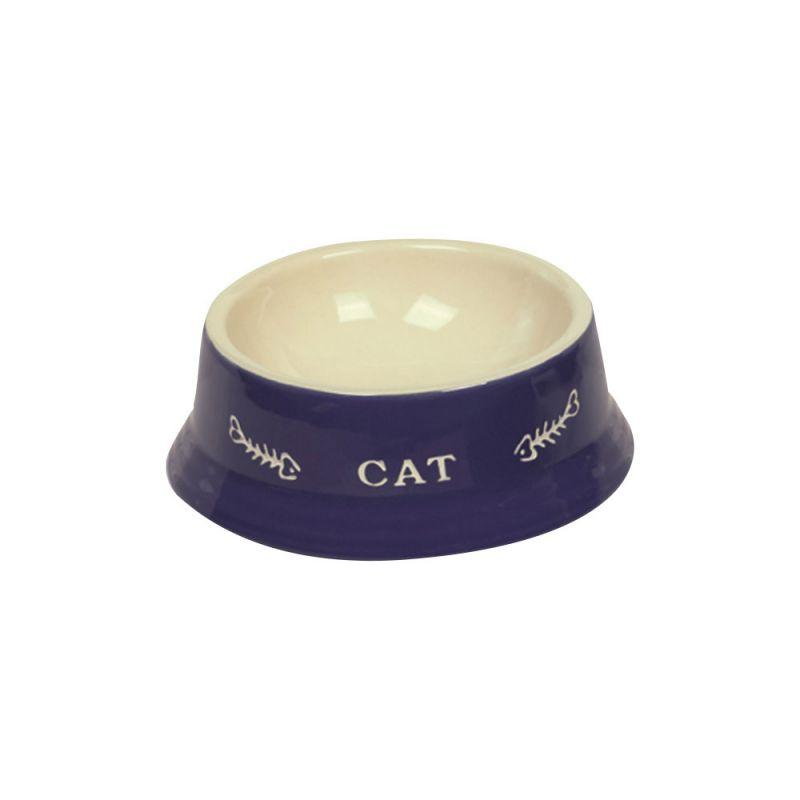 Nobby | Katzen Keramik Napf Cat blau-beige