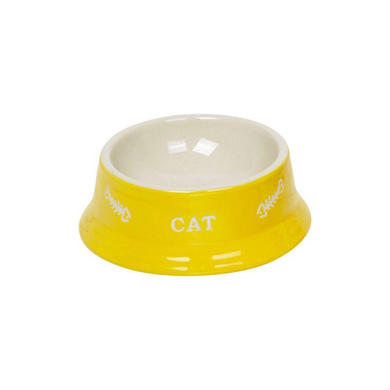 Nobby | Katzen Keramiknapf CAT gelb / beige