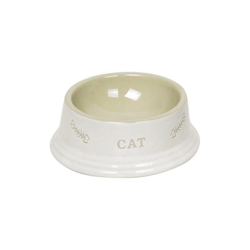 Nobby | Katzen Keramiknapf CAT weiß / beige