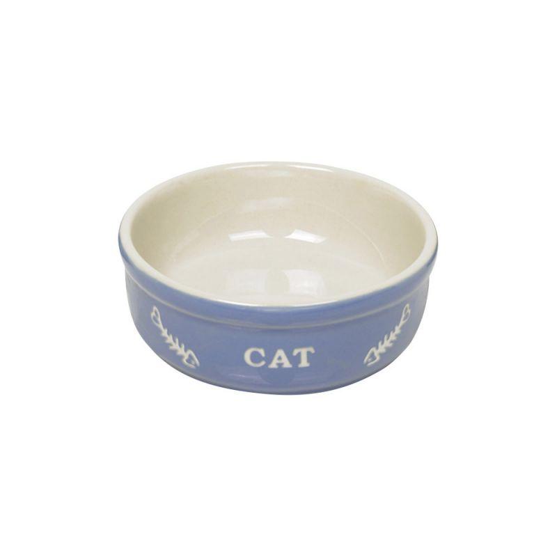 Nobby | Katzen Keramikschale CAT hellblau / beige