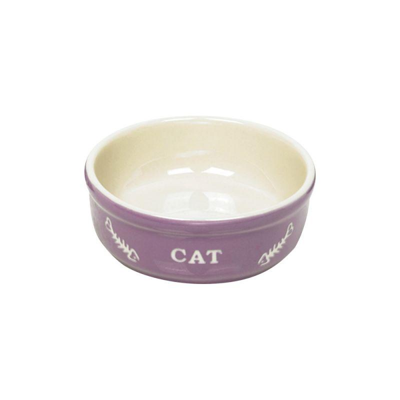 Nobby | Katzen Keramikschale CAT lila / beige