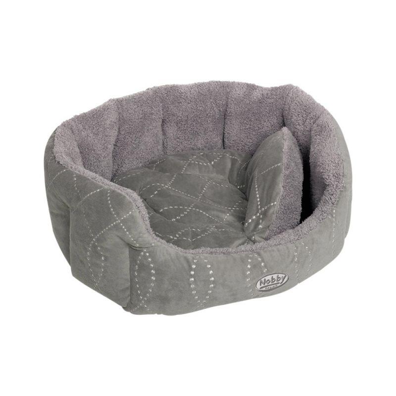Nobby | Komfort Bett oval CENO grau/grau